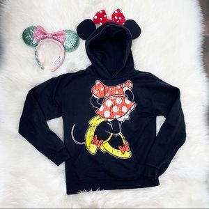 Disney girls Minnie Mouse hoodie size XL